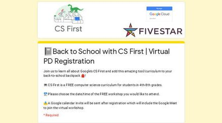 �Back to School with CS First (computer science) – free virtual PD for grades 4-8 – coding acrosss the curriculum