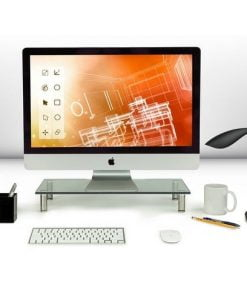 Mount-It! Computer Monitor Riser and Desktop Organizer - Clear